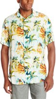 Margaritaville Men's Short Sleeve Surfing In A Hurricane BBQ Shirt, Multi