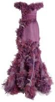 Marchesa Off-The-Shoulder Organza 3D Gown