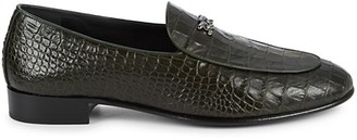 Giuseppe Zanotti Croc-Embossed Leather Loafers