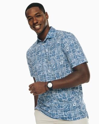 Southern Tide Tile Printed Driver Performance Polo Shirt