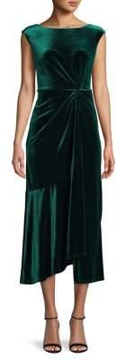 Gabby Skye High-Low Velvet Dress
