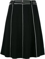 Emporio Armani piped seam A-line skirt - women - Viscose/Spandex/Elastane - 42