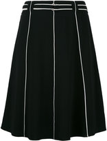 Emporio Armani piped seam A-line skirt