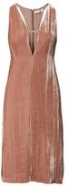 Banana Republic Heritage Velvet Deep-Vee Dress