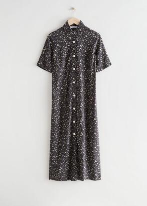 And other stories Adjustable Waist Midi Shirt Dress