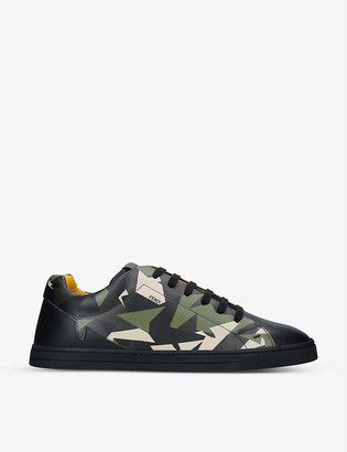Fendi Camo Bugs leather mid-top trainers