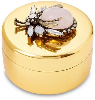 "Joanna Buchanan 3"" Brass Box with Vintage-Style Bug - Gold"