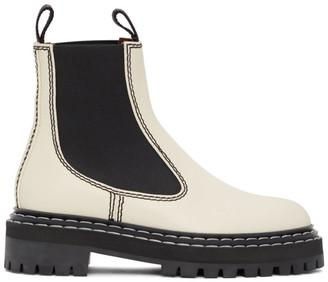Proenza Schouler White Combat Chelsea Boots