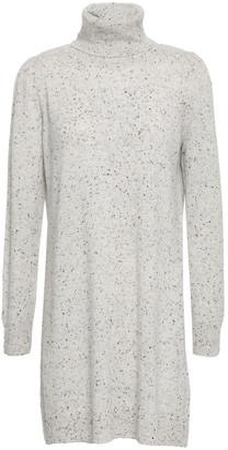 Co Marled Cashmere Turtleneck Mini Dress