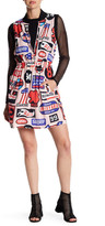 Love Moschino Sleeveless Graphic Print Dress