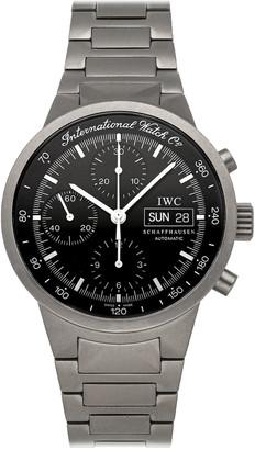 IWC Black Stainless Steel GST Chronograph IW3707-03 Men's Wristwatch 40 MM