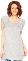 Wendy Bellissimo Maternity Fringed Cap-Sleeve Top