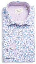 Ted Baker Men's Leone Trim Fit Floral Dress Shirt