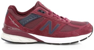 New Balance Men's 990v5 Made in US Suede & Mesh Sneakers