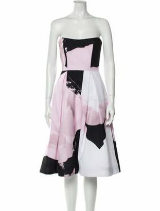 Nicholas Printed Mini Dress Pink