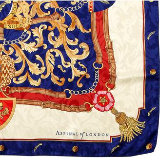 Aspinal of London Signature shield silk scarf