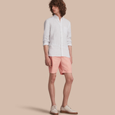 Burberry Cotton Poplin Chino Shorts , Size: 36, Pink