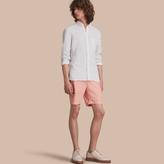 Burberry Cotton Poplin Chino Shorts , Size: 38, Pink