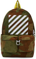 Off-White Green Camouflage Diagonal Backpack