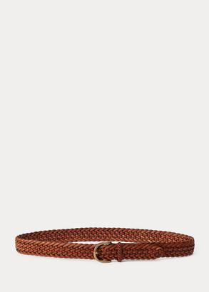 Ralph Lauren Braided Vachetta Leather Belt