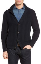 Luciano Barbera Men's Herringbone Cotton Cardigan