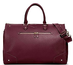 Hook and Albert Women's Leather Garment Weekender Bag