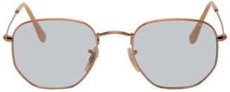 Ray-Ban Bronze and Blue Hexagonal Sunglasses