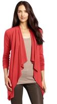 Three Dots Red Women's Long Sleeve Cardigan