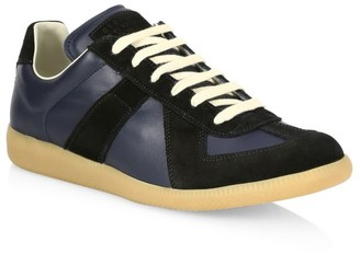 Maison Margiela Replica Leather & Suede Sneakers