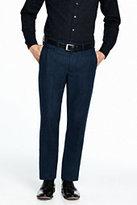 Lands' End Men's Flannel Tailored Pants-Black/White
