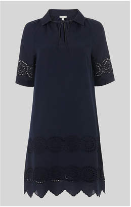 Whistles Broderie Shirt Dress