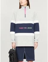 Tommy Jeans Colourblock funnel neck cotton-blend sweatshirt