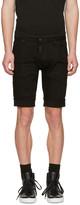 DSQUARED2 Black Denim Long Mod Shorts