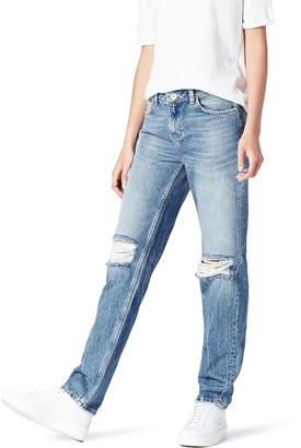 Find. Amazon Brand Women's Skinny Mid Rise Ripped Jeans