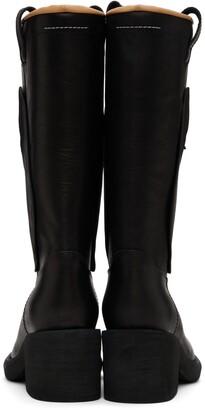 MM6 MAISON MARGIELA Black Mid Heel Western Boots