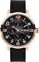 Versus By Versace 50mm Globe Oversized Chronograph Watch, Rose Golden/Black
