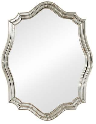 Baxton Studio Delmore Art Deco Antique Silver Accent Wall Mirror