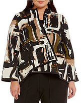 IC Collection Plus Reversible Print Asymmetrical Jacket