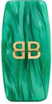 Balenciaga Acrylic And Gold-tone Clip Earring - Green