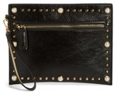 Street Level Embellished Wristlet - Black