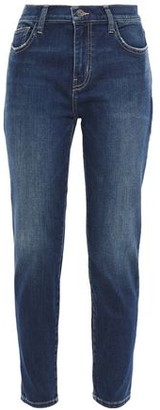 Current/Elliott The Stiletto Distressed High-rise Skinny Jeans