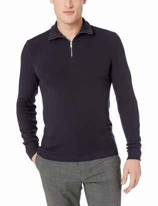 Theory Men's Half Zip Cotton Sweater
