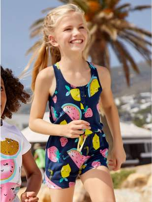M&Co Fruit print playsuit (3 - 12 yrs)