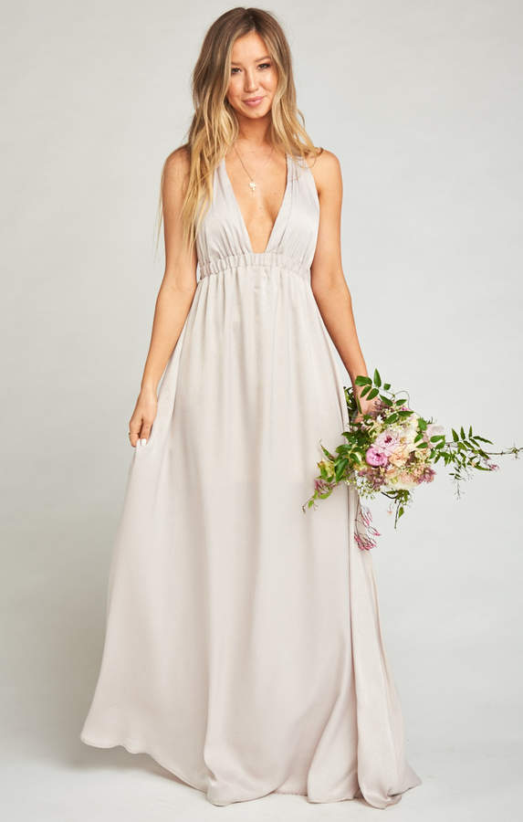 Show Me Your Mumu Luna Halter Dress ~ Show Me the Ring Sheen