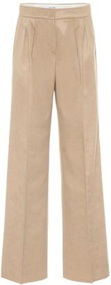 Max Mara Agadir cashmere and camel hair wide-leg pants