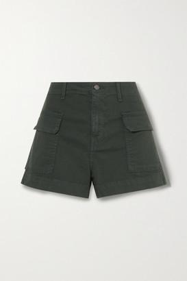 Veronica Beard Demi Cotton-blend Cargo Shorts - Army green