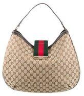 Gucci Large GG Ladies Web Hobo