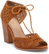 Restricted Windmill Suede Block Heel Sandal