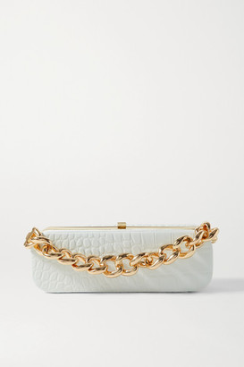 16Arlington Frankie Mini Croc-effect Leather Clutch - White