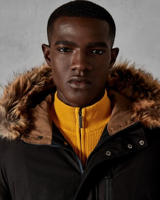 Ted Baker Faux Fur Hooded Parka